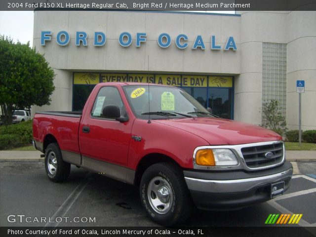 2004 Ford F150 XL Heritage Regular Cab in Bright Red