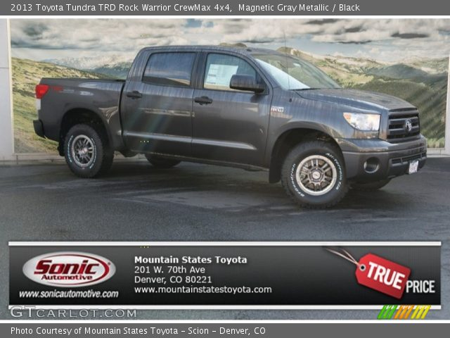 magnetic gray metallic 2013 toyota tundra trd rock warrior crewmax 4x4 black interior. Black Bedroom Furniture Sets. Home Design Ideas