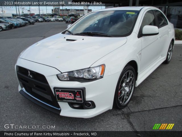 2013 mitsubishi lancer evolution mr in wicked white