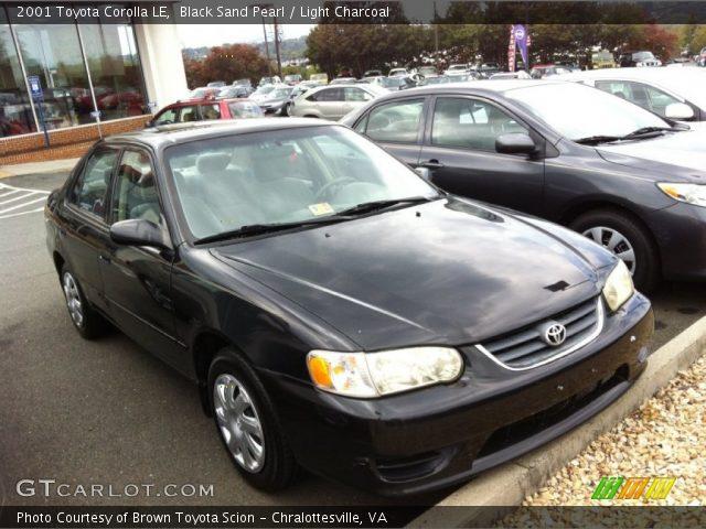 2001 Toyota Corolla le Black 2001 Toyota Corolla le in