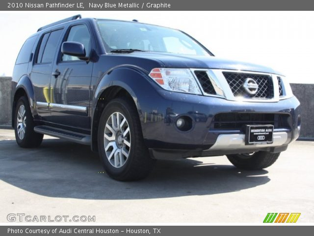 navy blue metallic 2010 nissan pathfinder le graphite. Black Bedroom Furniture Sets. Home Design Ideas
