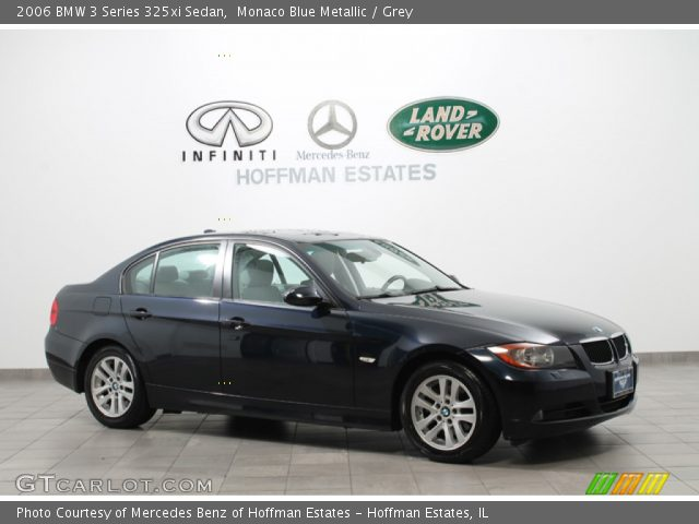 monaco blue metallic 2006 bmw 3 series 325xi sedan grey interior vehicle. Black Bedroom Furniture Sets. Home Design Ideas