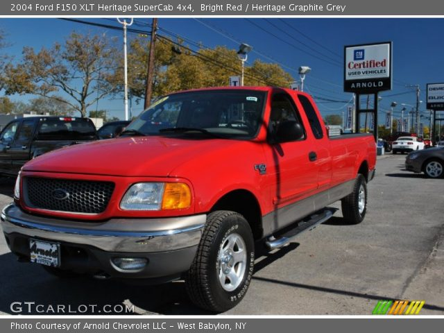 bright red 2004 ford f150 xlt heritage supercab 4x4. Black Bedroom Furniture Sets. Home Design Ideas