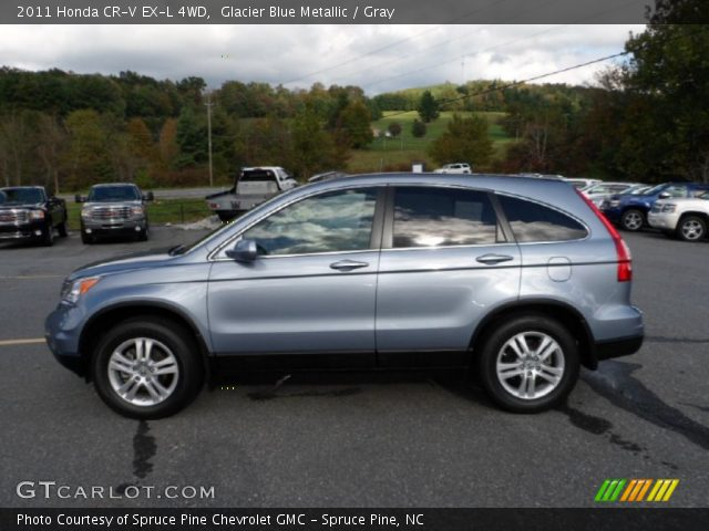 glacier blue metallic 2011 honda cr v ex l 4wd gray interior vehicle. Black Bedroom Furniture Sets. Home Design Ideas
