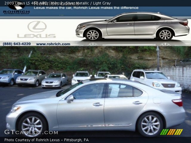 mercury silver metallic 2009 lexus ls 460 awd light. Black Bedroom Furniture Sets. Home Design Ideas