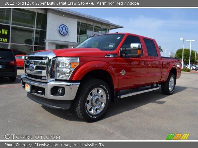 Vermillion Red - 2012 Ford F250 Super Duty Lariat Crew Cab ...