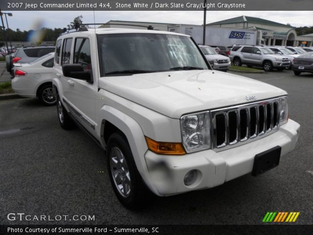 stone white 2007 jeep commander limited 4x4 dark slate. Black Bedroom Furniture Sets. Home Design Ideas