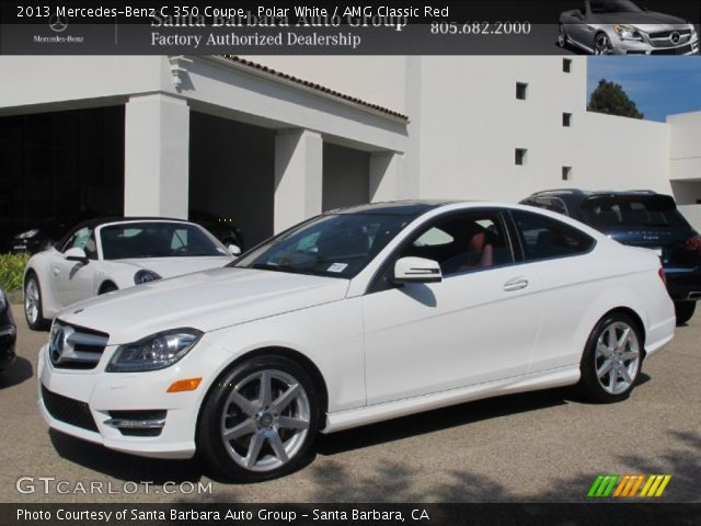 Polar White 2013 Mercedes Benz C 350 Coupe Amg Classic Red Interior Vehicle