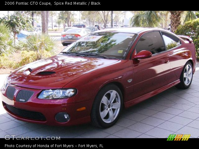 2006 Pontiac GTO Coupe in Spice Red Metallic