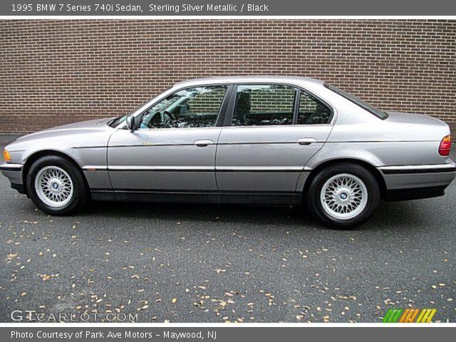sterling silver metallic 1995 bmw 7 series 740i sedan black interior. Black Bedroom Furniture Sets. Home Design Ideas