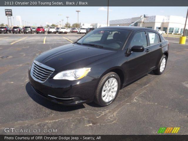 black 2013 chrysler 200 touring sedan black interior