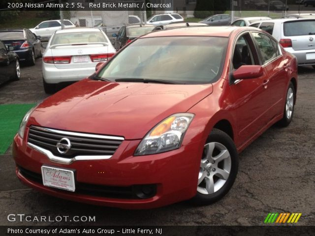 red brick metallic 2009 nissan altima 2 5 sl charcoal interior vehicle. Black Bedroom Furniture Sets. Home Design Ideas