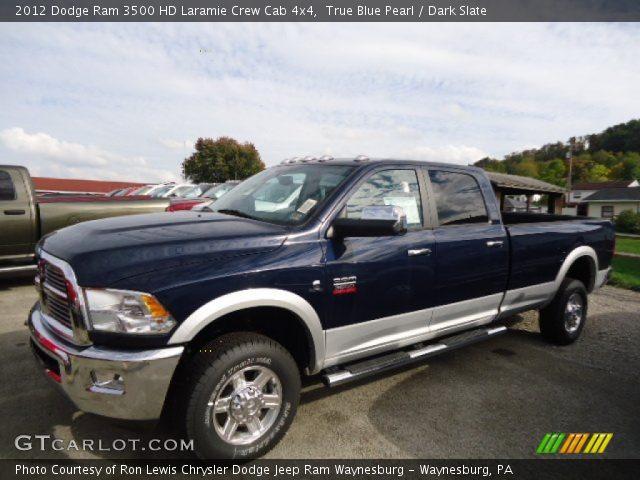 true blue pearl 2012 dodge ram 3500 hd laramie crew cab 4x4 dark slate interior gtcarlot. Black Bedroom Furniture Sets. Home Design Ideas