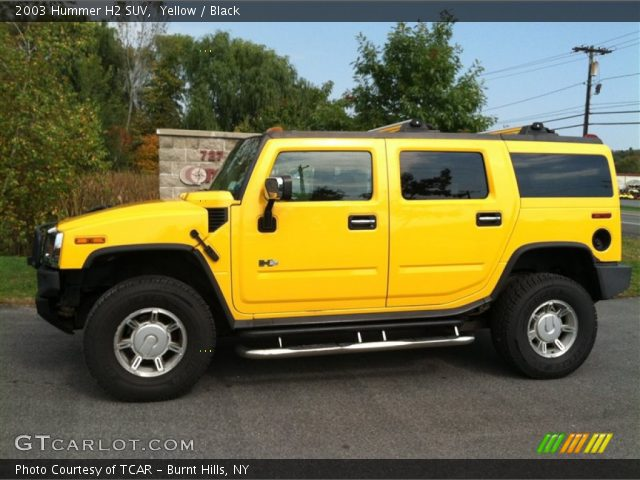 2003 Hummer H2 SUV in Yellow