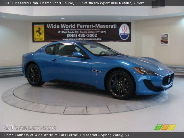2013 Maserati GranTurismo Sport Coupe in Blu Sofisticato (Sport Blue Metallic)