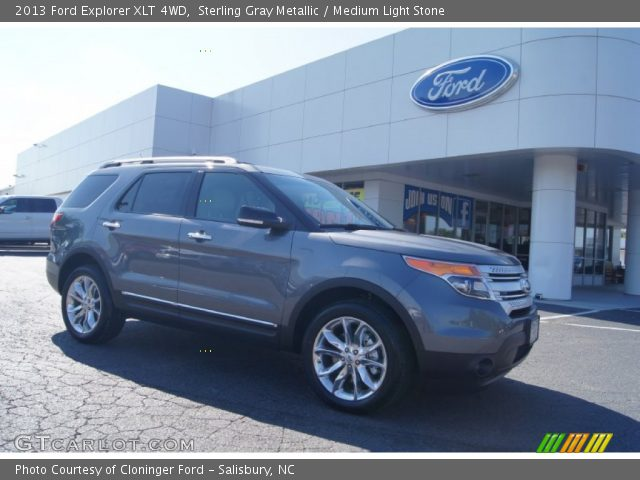 Sterling Gray Metallic 2013 Ford Explorer XLT 4WD with Medium Light ...