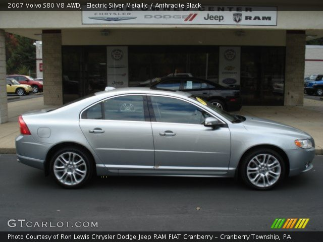 electric silver metallic 2007 volvo s80 v8 awd. Black Bedroom Furniture Sets. Home Design Ideas