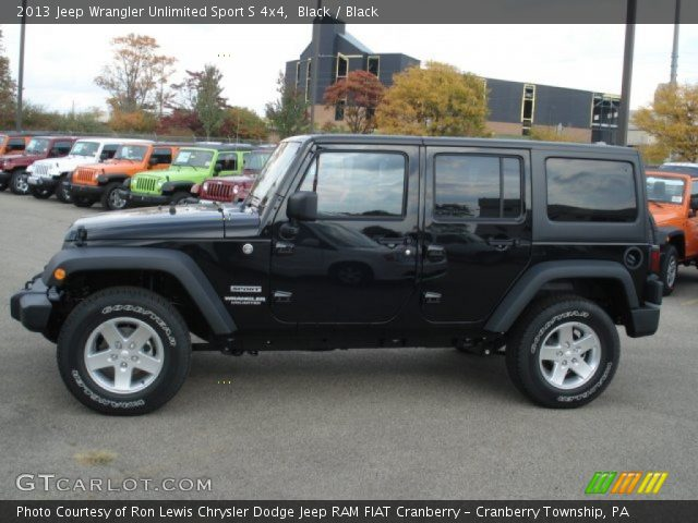 2013 jeep wrangler unlimited sport s 4x4 in black click to see large. Cars Review. Best American Auto & Cars Review