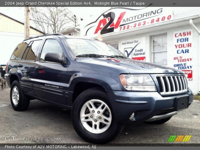 midnight blue pearl 2004 jeep grand cherokee special edition 4x4 taupe interior gtcarlot. Black Bedroom Furniture Sets. Home Design Ideas