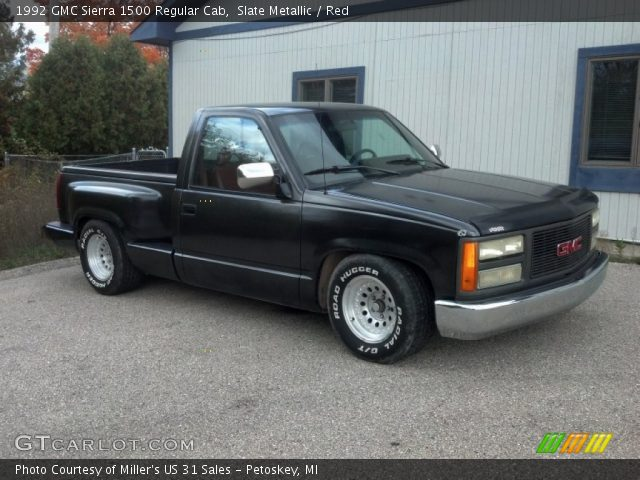 slate metallic 1992 gmc sierra 1500 regular cab red interior gtcarlot com vehicle archive 71819602 gtcarlot com