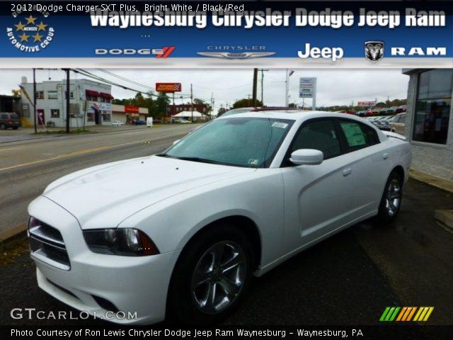 bright white 2012 dodge charger sxt plus black red interior vehicle archive. Black Bedroom Furniture Sets. Home Design Ideas