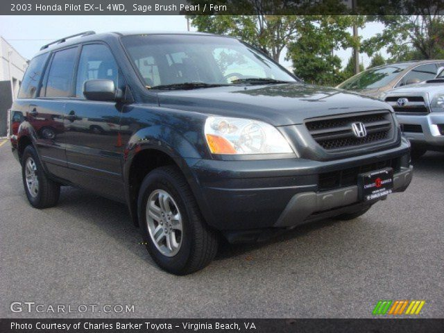 sage brush pearl 2003 honda pilot ex l 4wd fern. Black Bedroom Furniture Sets. Home Design Ideas