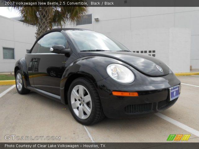 black  volkswagen  beetle  convertible black interior gtcarlotcom vehicle
