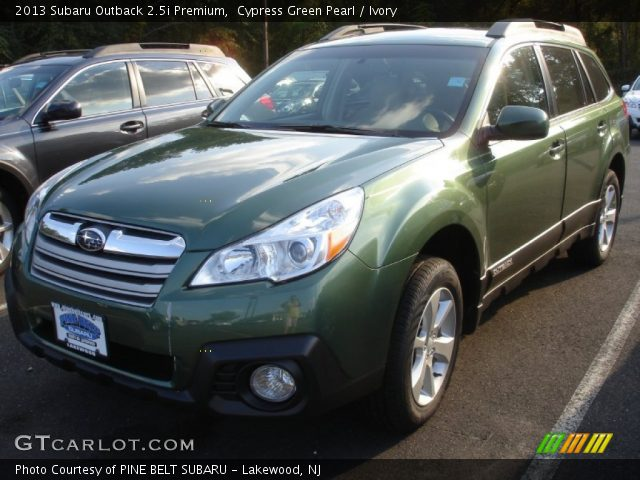 cypress green pearl 2013 subaru outback premium ivory interior vehicle. Black Bedroom Furniture Sets. Home Design Ideas