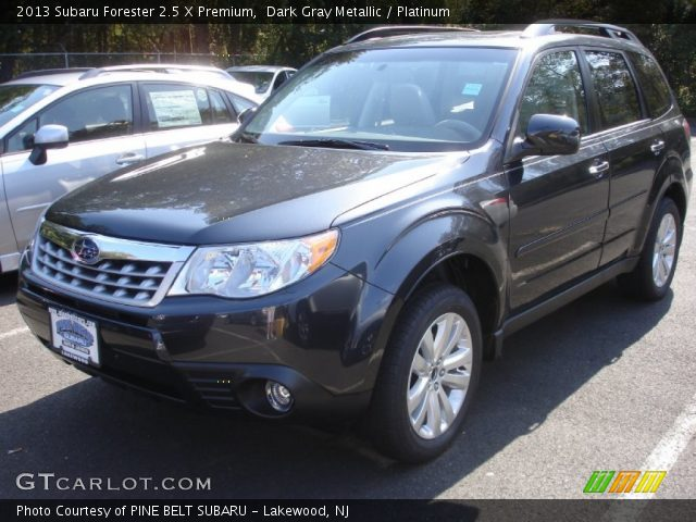 dark gray metallic 2013 subaru forester 2 5 x premium platinum interior. Black Bedroom Furniture Sets. Home Design Ideas