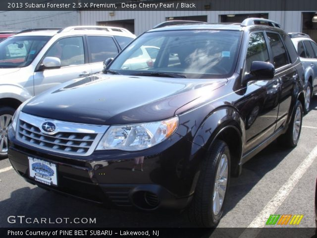 deep cherry pearl 2013 subaru forester 2 5 x premium black interior vehicle. Black Bedroom Furniture Sets. Home Design Ideas