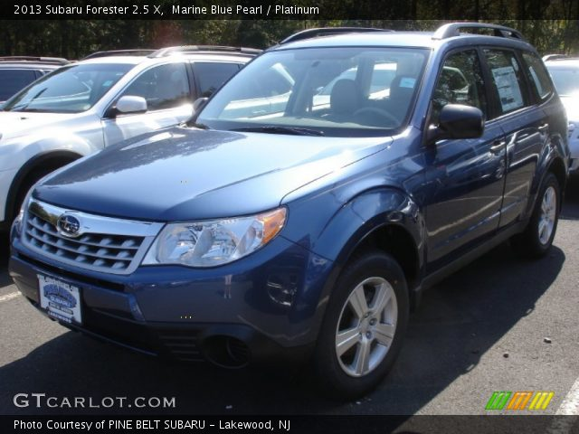 marine blue pearl 2013 subaru forester 2 5 x platinum interior vehicle. Black Bedroom Furniture Sets. Home Design Ideas