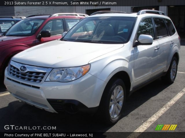 satin white pearl 2013 subaru forester 2 5 x premium platinum interior. Black Bedroom Furniture Sets. Home Design Ideas