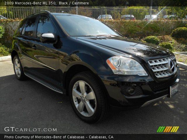 Black 2009 mercedes benz ml 350 cashmere interior for Mercedes benz ml 350 2009