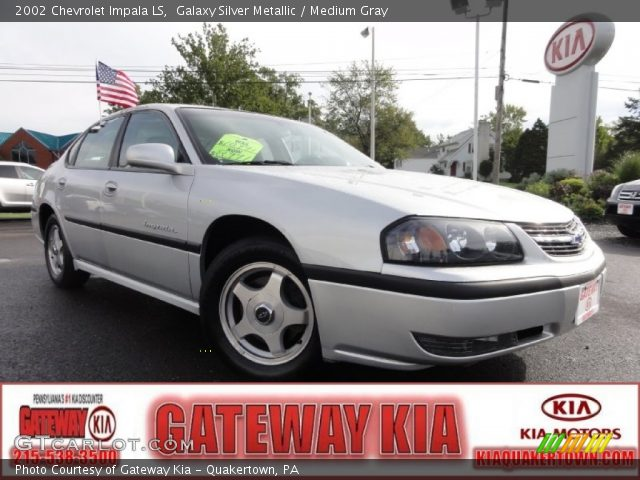 galaxy silver metallic 2002 chevrolet impala ls medium gray interior. Black Bedroom Furniture Sets. Home Design Ideas