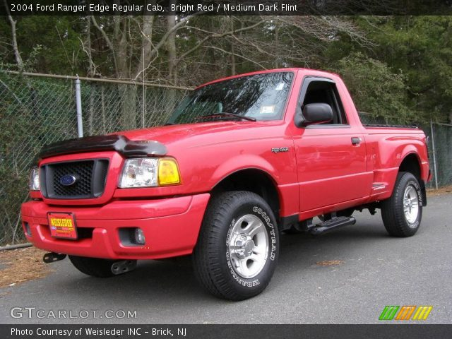 bright red 2004 ford ranger edge regular cab medium dark flint interior. Black Bedroom Furniture Sets. Home Design Ideas