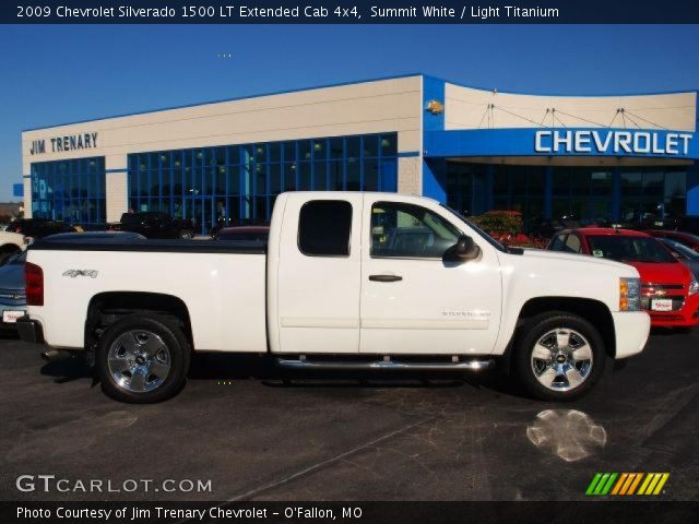 summit white 2009 chevrolet silverado 1500 lt extended cab 4x4 light titanium interior. Black Bedroom Furniture Sets. Home Design Ideas