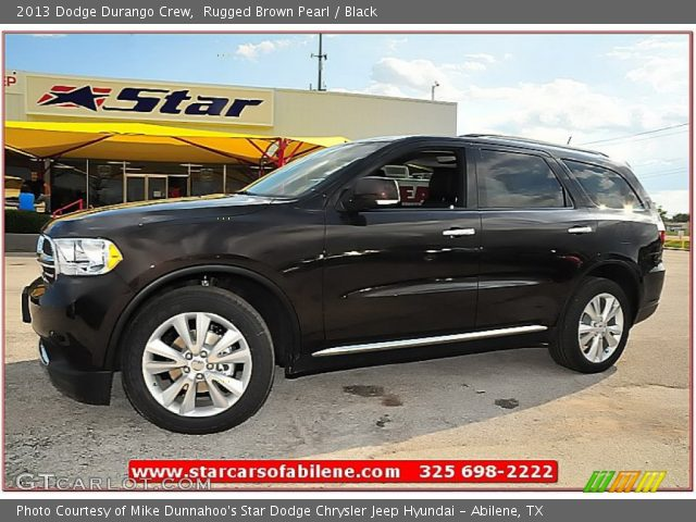 rugged brown pearl 2013 dodge durango crew black. Black Bedroom Furniture Sets. Home Design Ideas