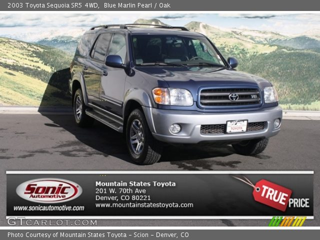 blue marlin pearl 2003 toyota sequoia sr5 4wd oak. Black Bedroom Furniture Sets. Home Design Ideas