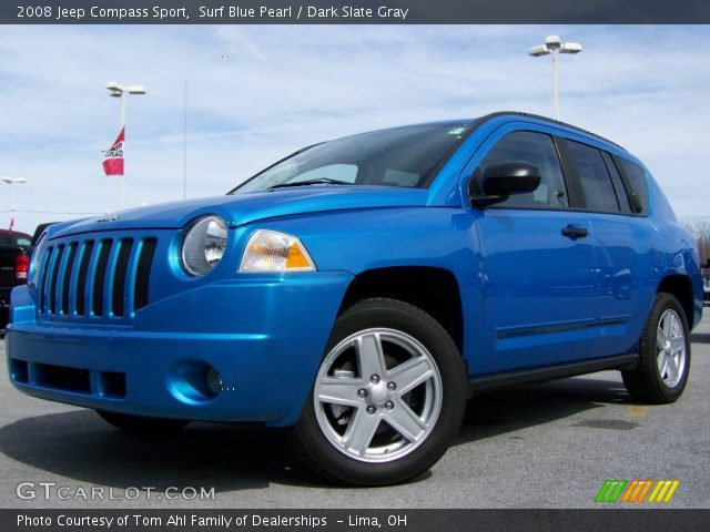 surf blue pearl 2008 jeep compass sport dark slate. Black Bedroom Furniture Sets. Home Design Ideas