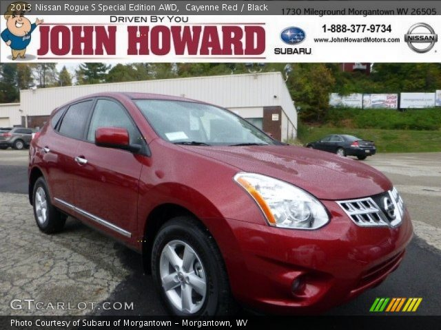 cayenne red 2013 nissan rogue s special edition awd black interior vehicle. Black Bedroom Furniture Sets. Home Design Ideas