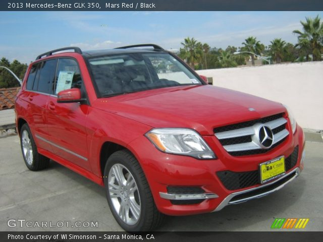 Mars Red 2013 Mercedes Benz Glk 350 Black Interior