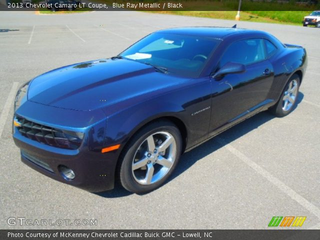 blue ray metallic 2013 chevrolet camaro lt coupe black. Black Bedroom Furniture Sets. Home Design Ideas