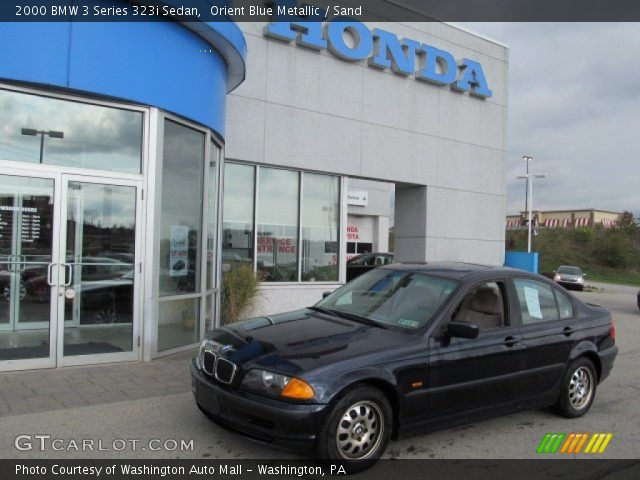 2000 BMW 3 Series 323i Sedan in Orient Blue Metallic