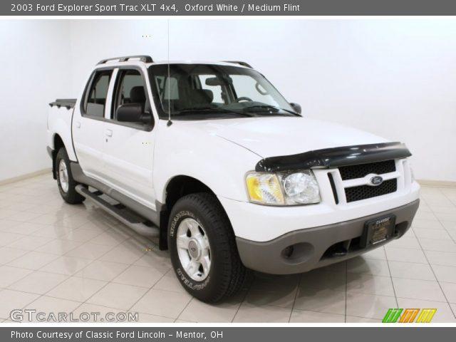 Oxford White 2003 Ford Explorer Sport Trac XLT 4x4 Medium Flint Interior