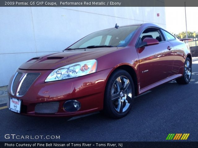 performance red metallic 2009 pontiac g6 gxp coupe ebony interior vehicle. Black Bedroom Furniture Sets. Home Design Ideas