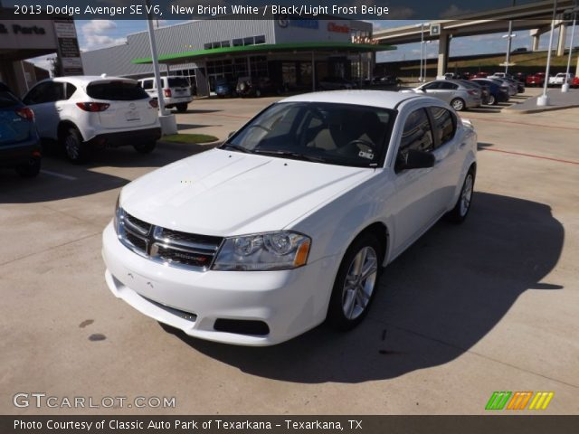 new bright white 2013 dodge avenger se v6 black light. Black Bedroom Furniture Sets. Home Design Ideas