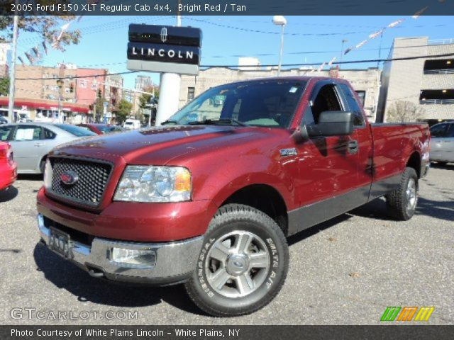 2005 Ford F150 XLT Regular Cab 4x4 in Bright Red