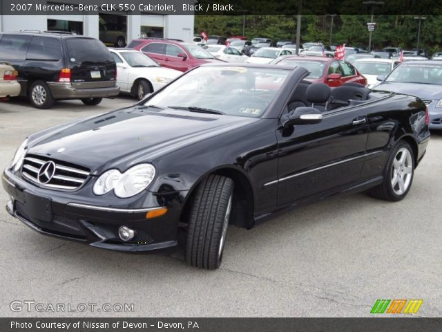 Black 2007 mercedes benz clk 550 cabriolet black for 2007 mercedes benz clk550