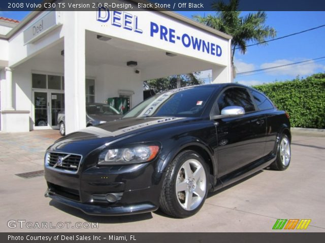black stone 2008 volvo c30 t5 version 2 0 r design off black interior. Black Bedroom Furniture Sets. Home Design Ideas