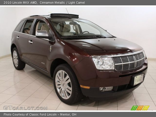 cinnamon metallic 2010 lincoln mkx awd light camel interior vehicle archive. Black Bedroom Furniture Sets. Home Design Ideas